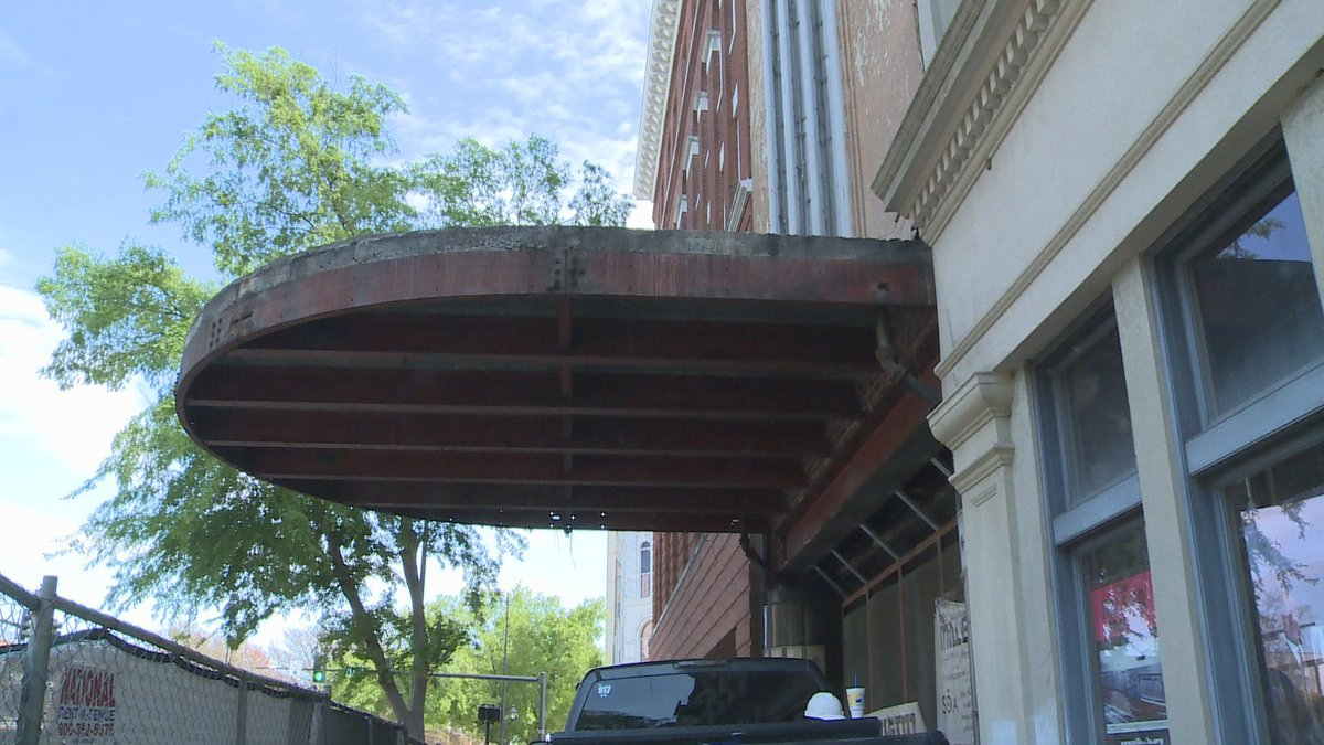 The original marquee for the Miller Theater was removed back in March.