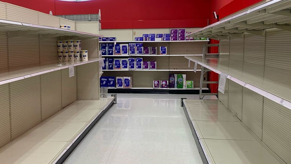 Empty shelves are back in the two-state region.