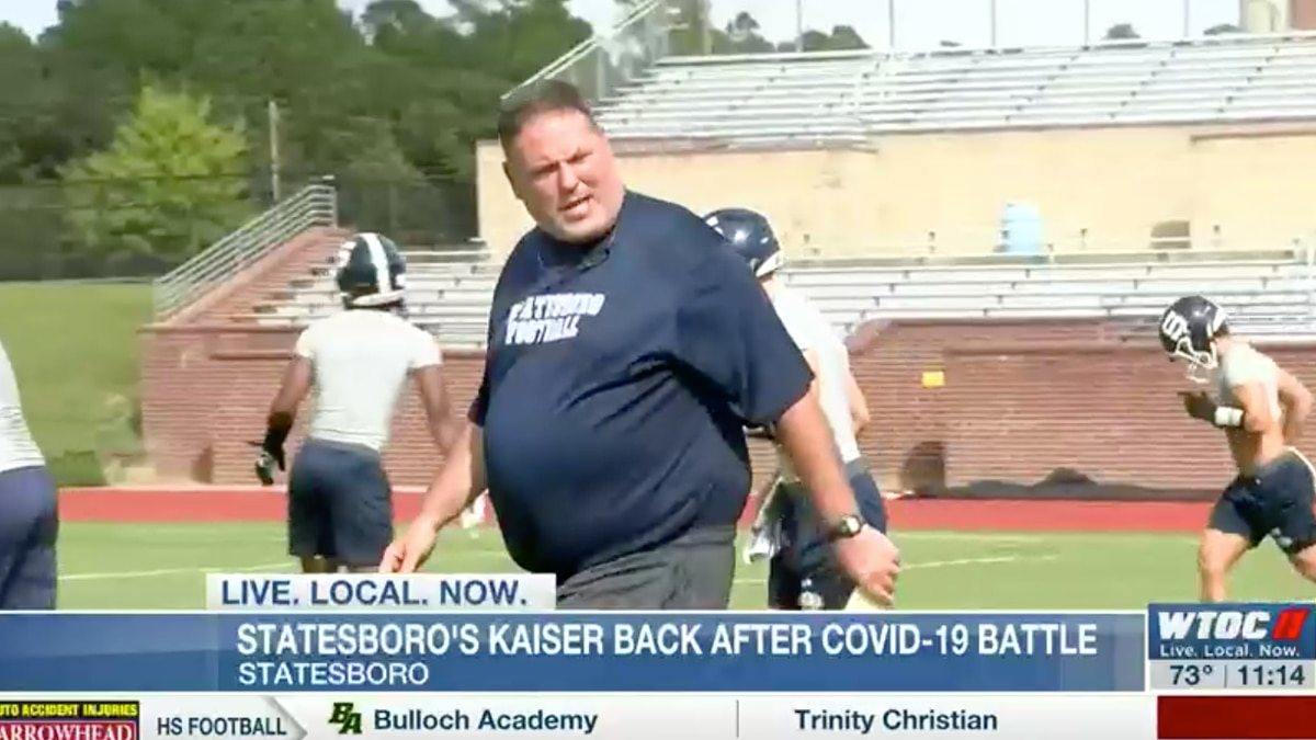 After a lengthy battle with COVID-19, Statesboro's head football coach, Jeff Kaiser, has made...