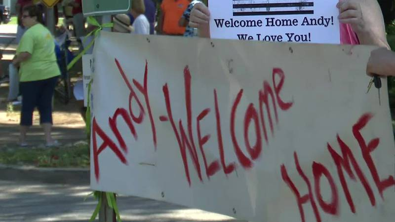 It's welcome home for a local hero. Check out the streets today as friends, family, and...