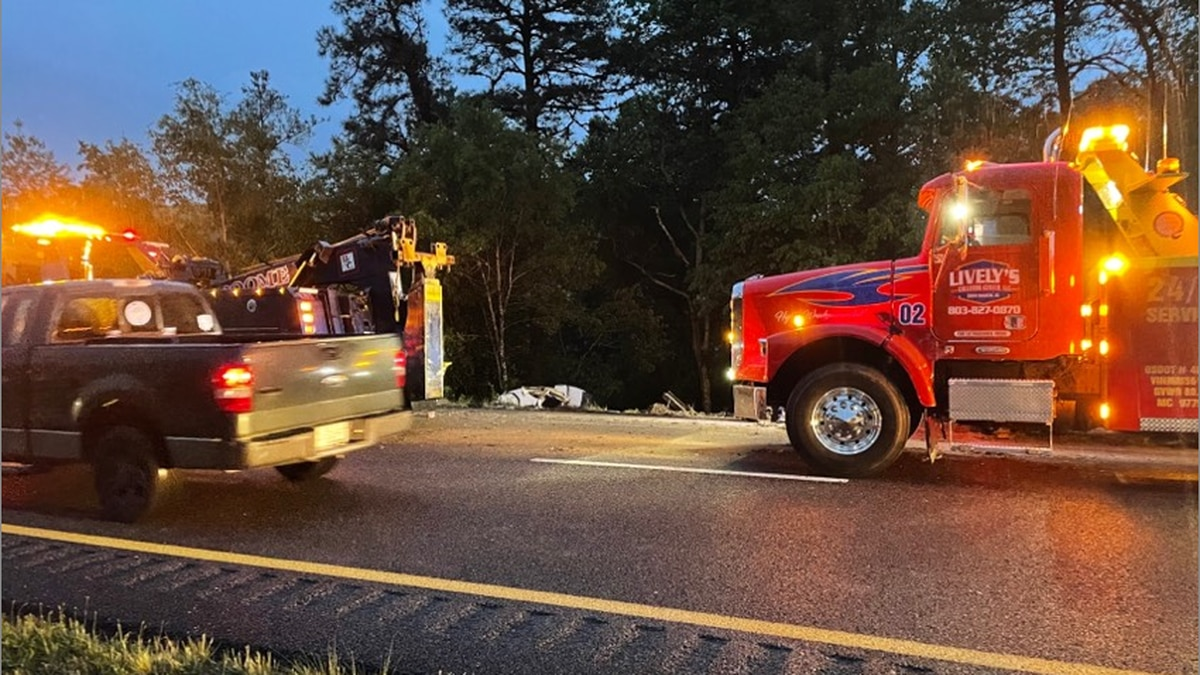 Aiken County Deputies are heading to a tractor trailer carrying frozen goods that is overturned...