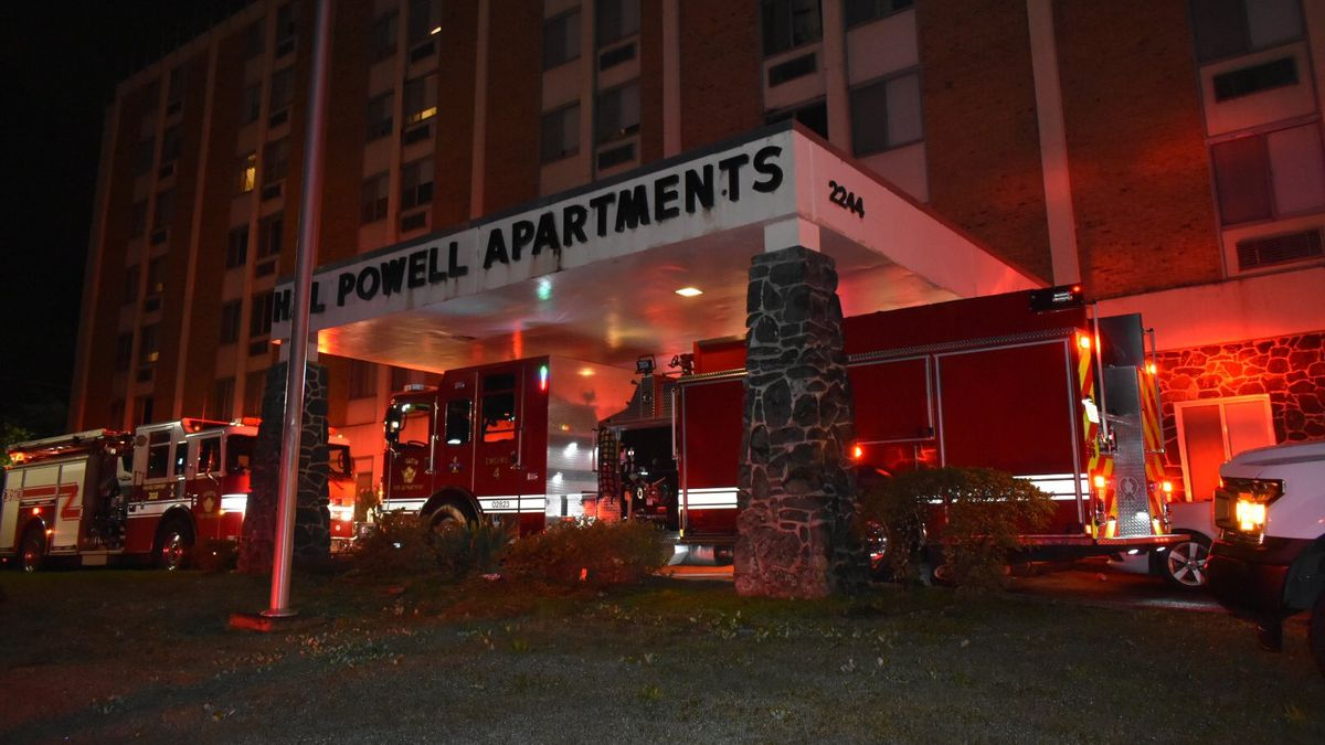 Augusta Fire and Emergency Management says the fourth floor of Hal Powell Apartments is...