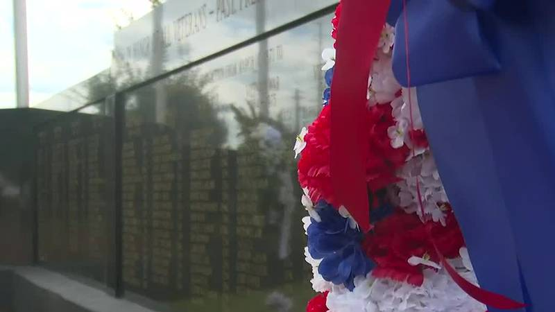 Here at home to commemorate all of the fallen Aiken County veterans there is a wreath-laying...