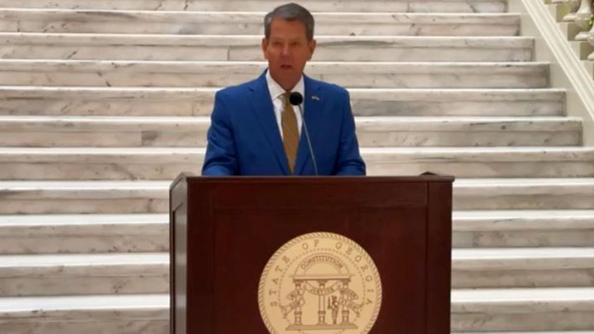 Gov. Brian Kemp makes the announcement on Nov. 24, 2020, at the state Capitol.