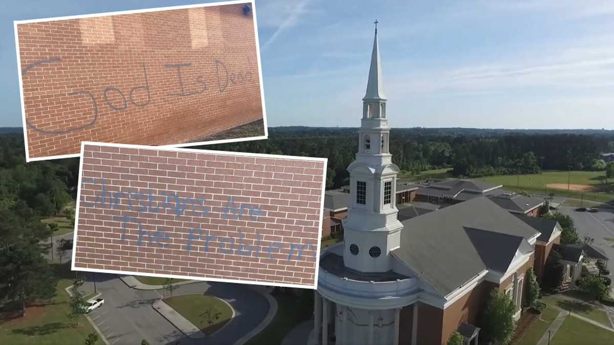 The pastor of First Baptist Church Augusta shared these photos on Facebook of the church's...