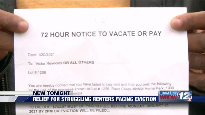 Relief for struggling renters facing eviction