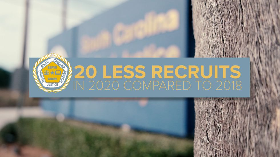 The South Carolina Criminal Justice Academy says in 2020 they'll have about 20 fewer recruits compared to 2018. The Georgia Police Academy said in 2018, they turned out 305 cadets.
