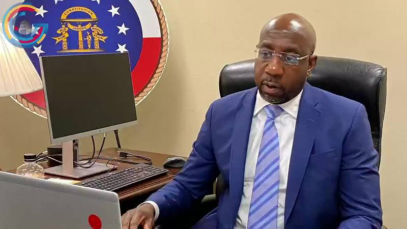 Sen. Raphael Warnock gets to work on Capitol Hill
