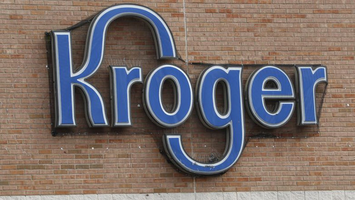 A Kroger grocery store sign