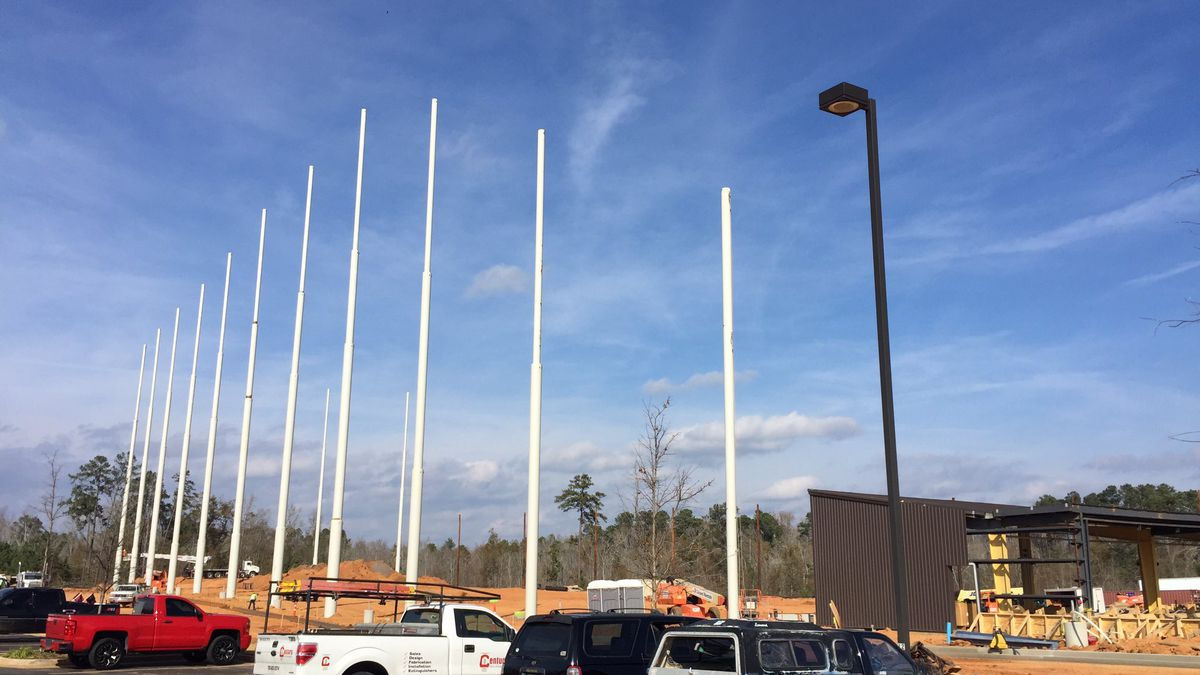 Augusta's Topgolf location is coming right along ahead of a Spring 2020 opening date. (Source: WRDW)