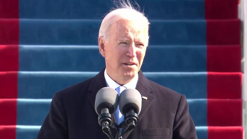 Joe Biden gave his inaugural speech after being sworn in as the 46th president.
