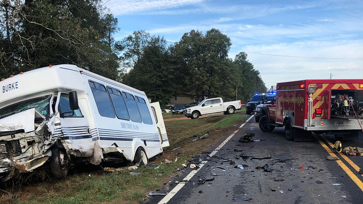 A Burke County transit bus crashed on Highway 23 Friday. (Source: Burke County Sheriff's Office)