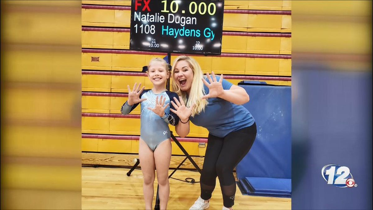 Natalie Dugan scored a perfect 10 at a competition!