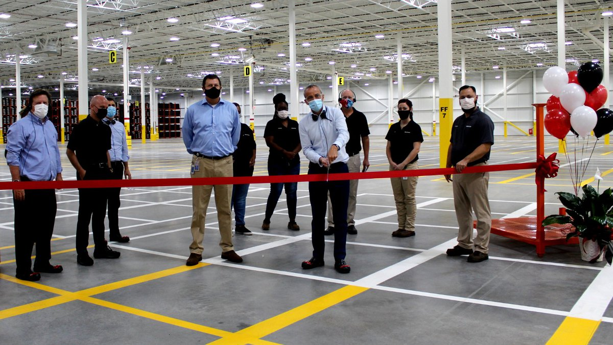 At the ribbon cutting for the Graniteville warehouse were Bridgestone officials Philip Dobbs,...