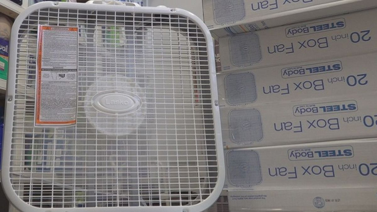 LOA has some fans and air conditioners stored for eligible seniors