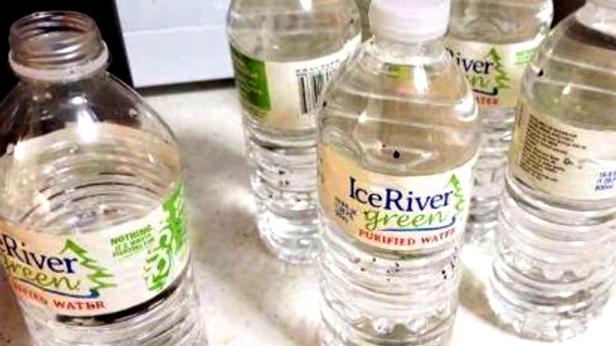 These bottles of water distributed Sept. 13, 2020, in Bamberg, S.C., are past their expiration and should be tossed, officials say.