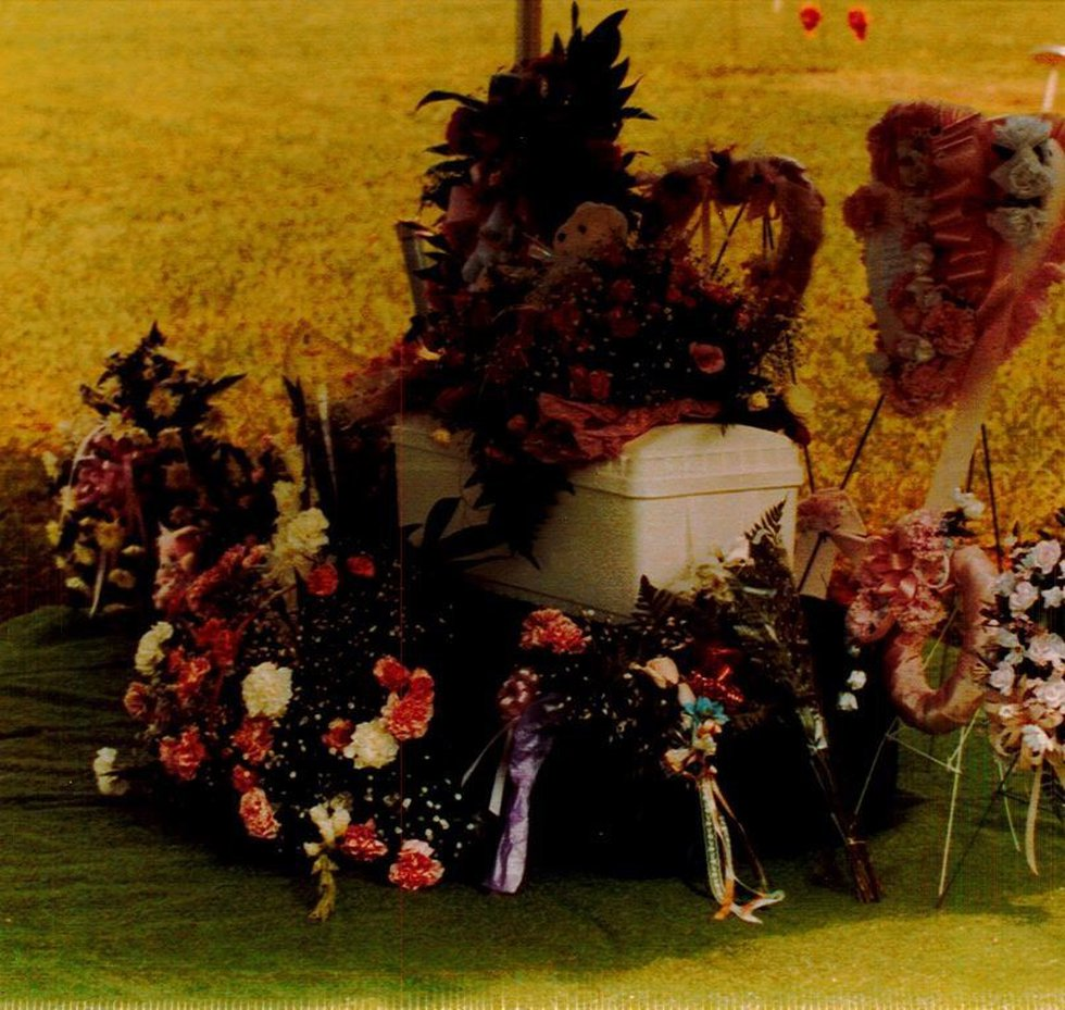 The funeral of baby Angel Hope, who was killed when she was only hours old.