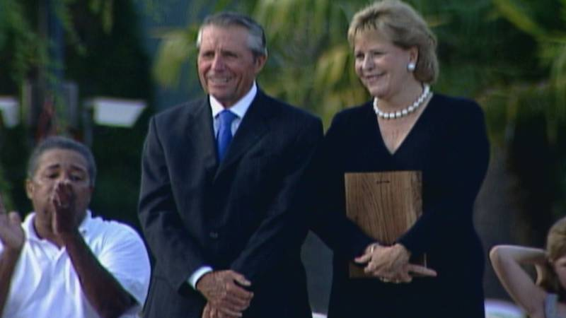 Gary Player and his wife, Vivienne Verwey, in Augusta, GA, 2007.