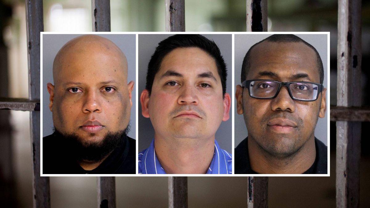 From left: Hilario Fuentes-Rosario,  Thomas Caffrey Jr. and Rodney K. Robinson Jr.
