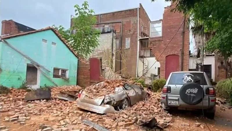 New details after a building collapses in downtown Edgefield crushing a woman inside her car.
