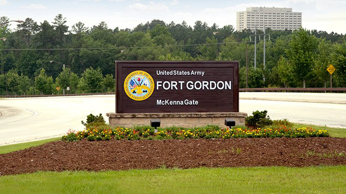 This is the McKenna Gate of Fort Gordon.