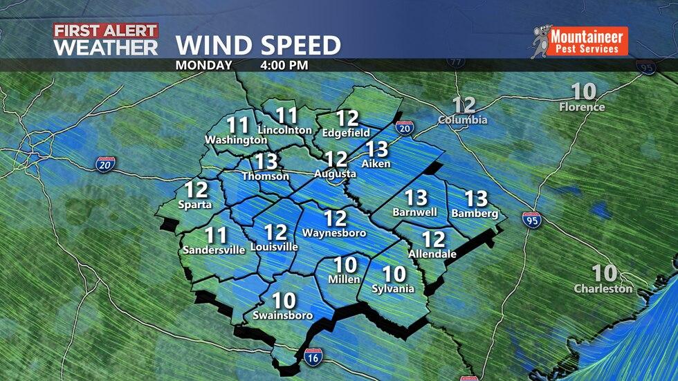 Tomorrow Wind Speeds