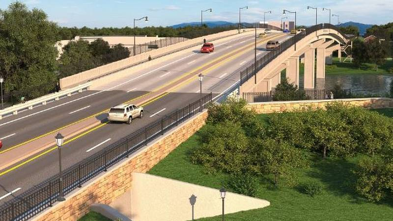 This is a rendering of proposed changes for the 13th Street Bridge.