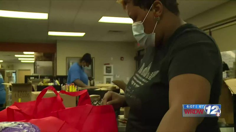 YMCA hands out food for families