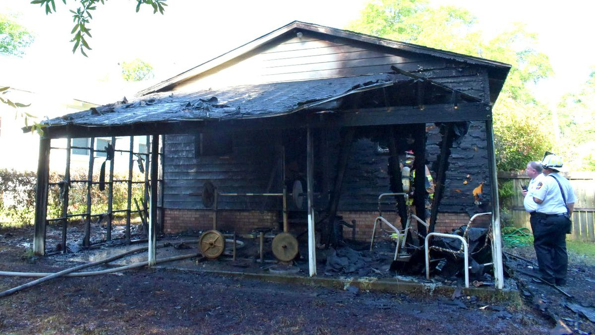 This home on Stovall Street in Augusta was heavily damaged in a fire on April 27, 2021.