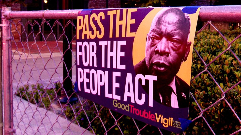 A vigil in Augusta on July 17, 2021, marked the one-year anniversary of the death of John Lewis.