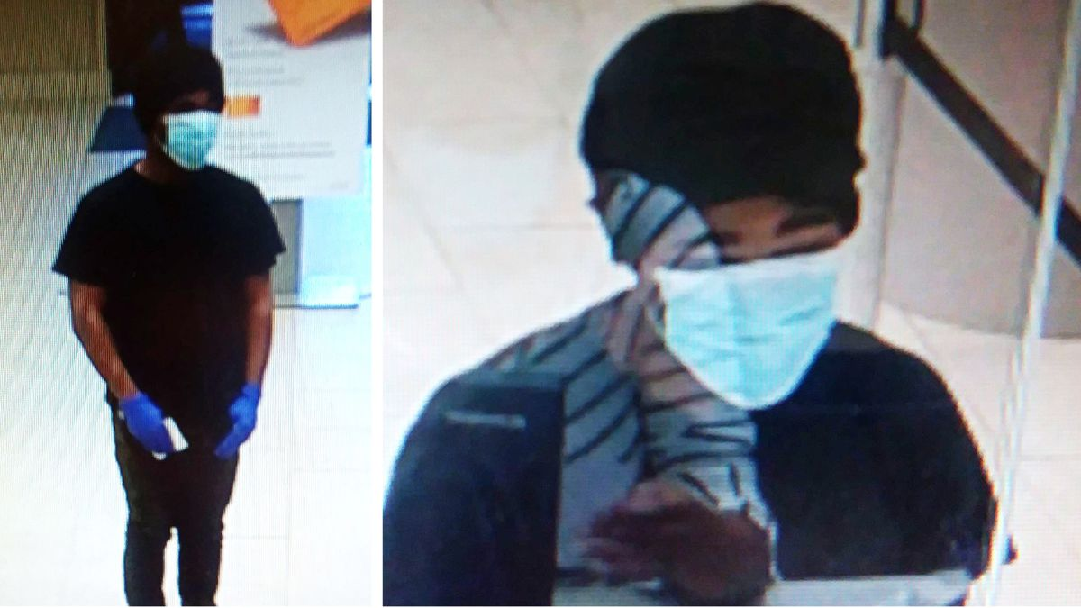 Authorities are looking for a person who's wanted for questioning after a bank was robbed at...