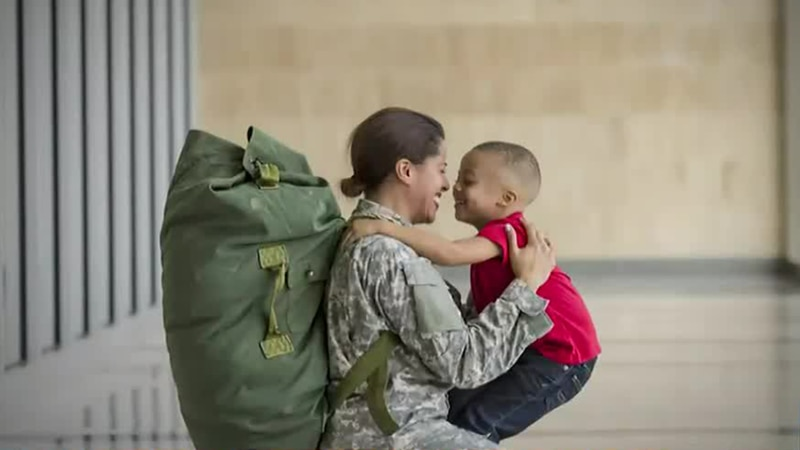 Military families on the move
