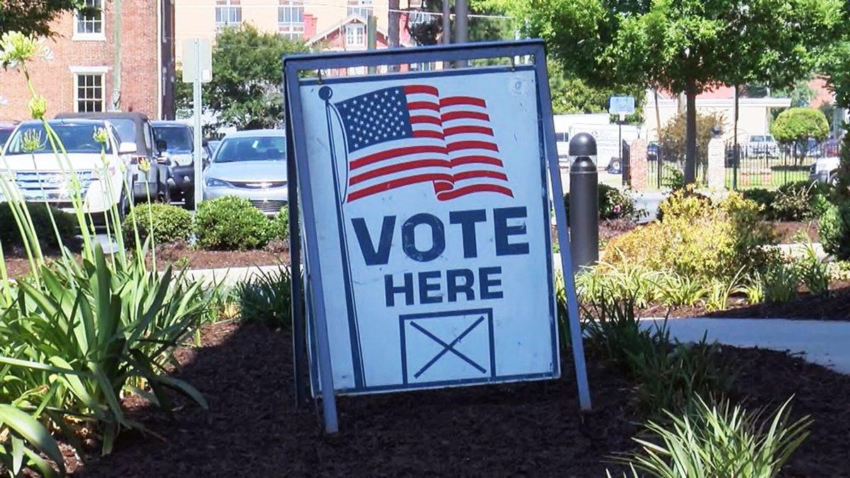 A voting location in Savannah, Ga.