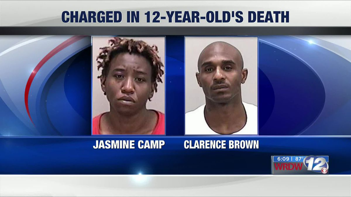 Jasmine Camp and Clarence Brown are charged in 12-year-old Derrick Camp's death. (Source: WRDW)