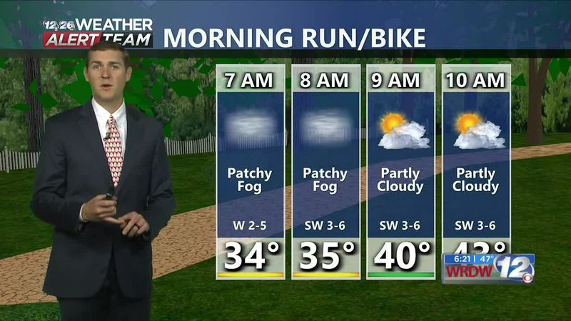 Watch out for fog early Wednesday. Partly cloudy skies in the afternoon with highs in the mid...