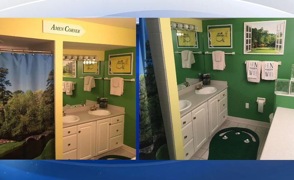 Man designs bathroom full of Masters memorabilia, complete ...