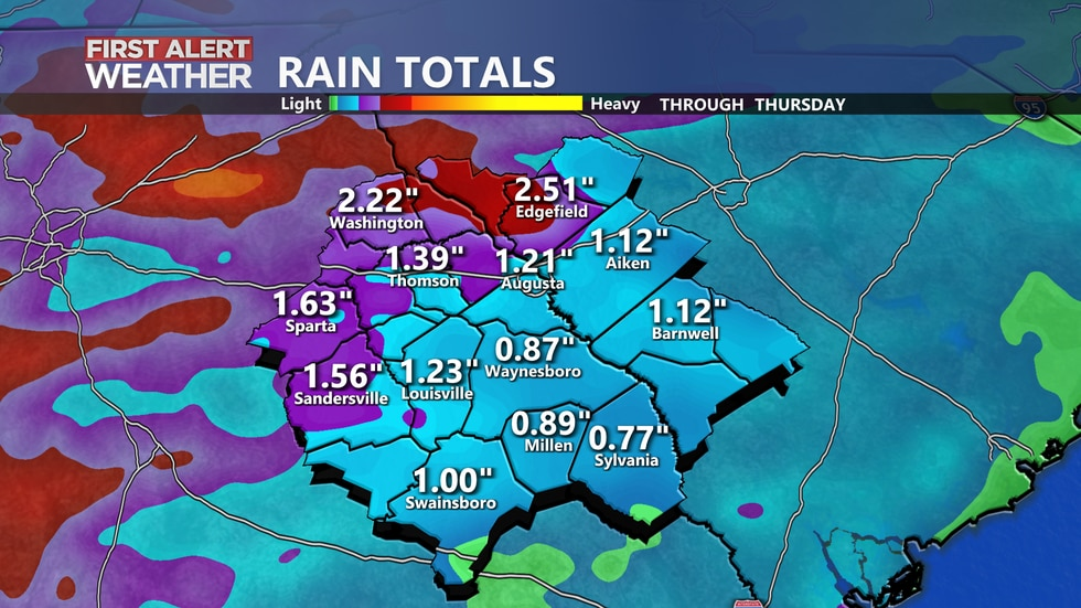 Rain totals through Thursday.