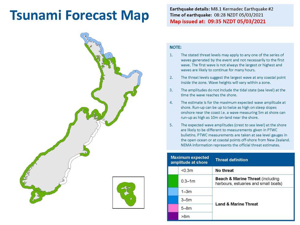 Tsunami Forecast (New Zealand)