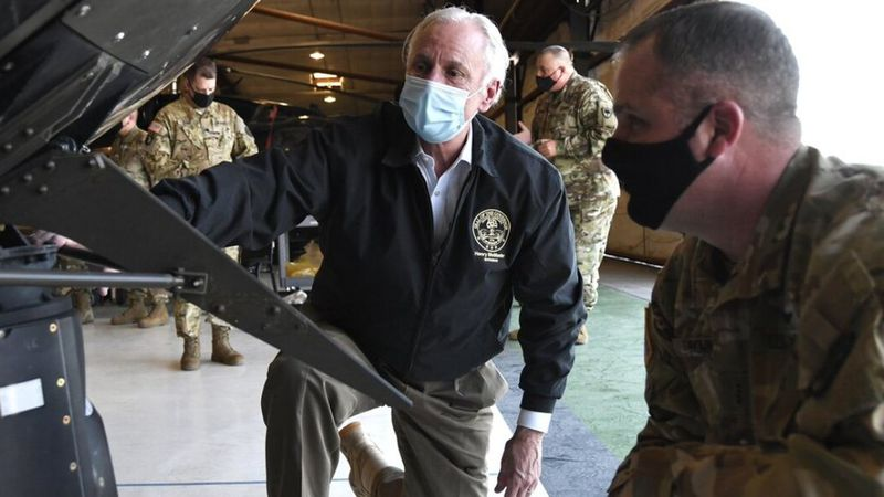 South Carolina Gov. Henry McMaster visits troops at the southern U.S. border.
