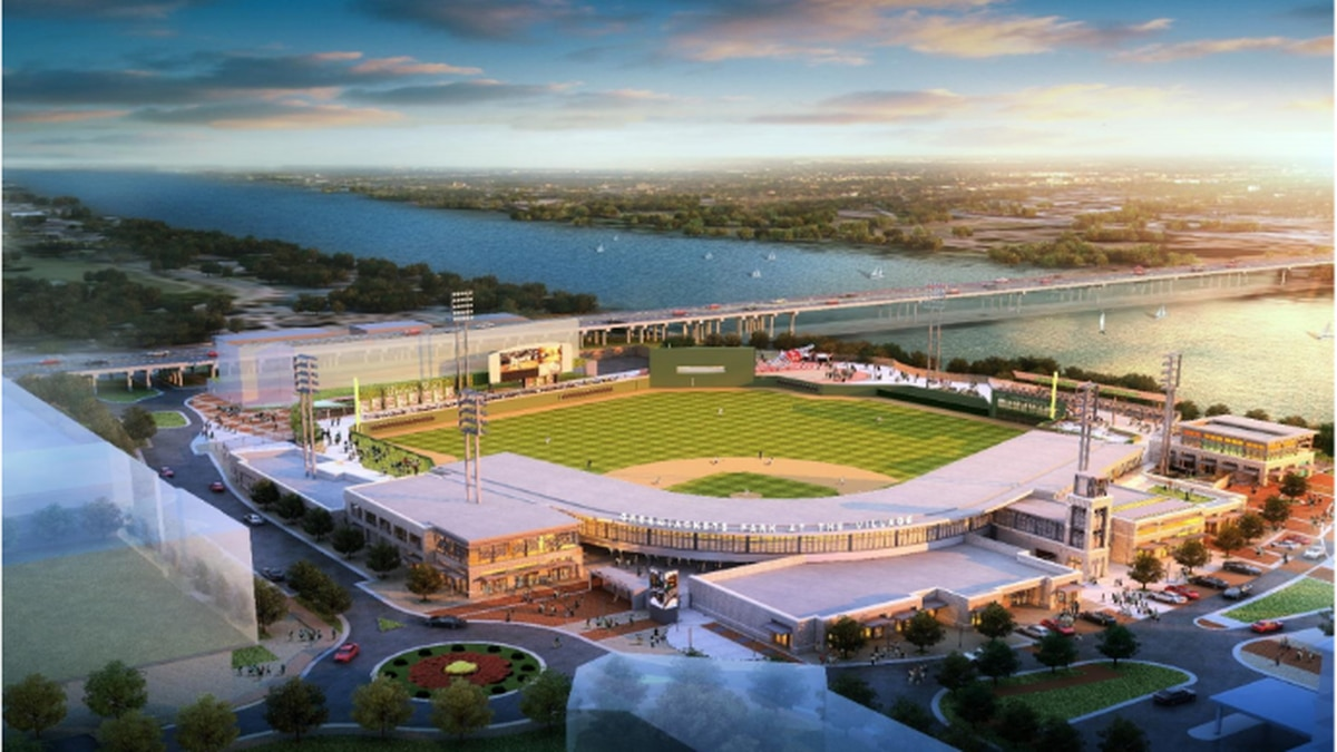 An early rendering of the proposed GreenJackets Stadium at Project Jackson.