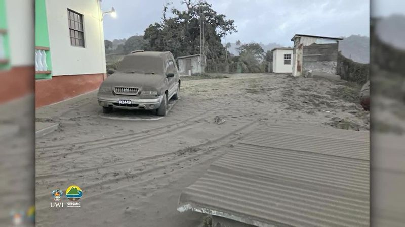People on the Caribbean island of St. Vincent woke up Saturday morning to heavy ash falling...