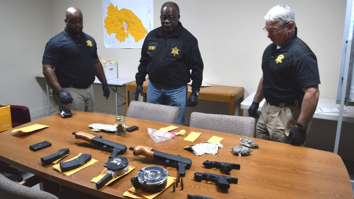 """""""We took some serious weapons off of the streets of Orangeburg County and out of the hands of these individuals who apparently think they're above the law,"""" Sheriff Leroy Ravenell said"""