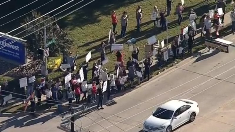 This protest stems from the deadline Southwest set for employees to get vaccinated, which was...