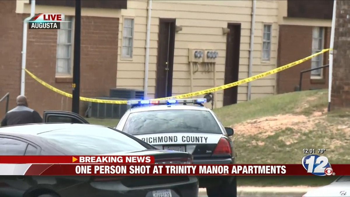 At least one person was shot at Trinity Manor Apartments. (Source: WRDW)