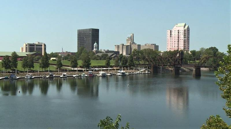 A view of Augusta from across the Savannah River.