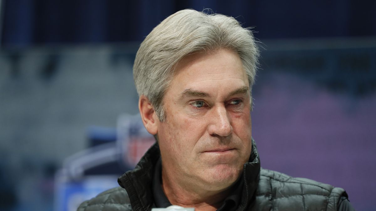 In this Feb. 25, 2020, file photo, Philadelphia Eagles coach Doug Pederson speaks during a news conference at the NFL football scouting combine in Indianapolis.
