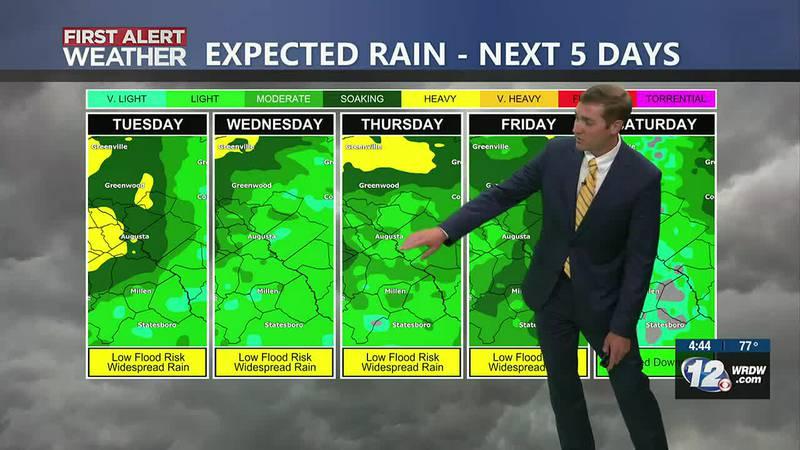 Wet Pattern Through Friday
