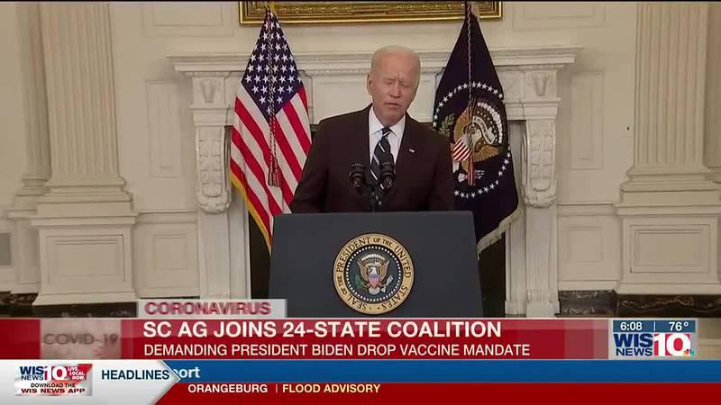 SC AG joins 24-state coalition demanding President Biden drop vaccine mandate