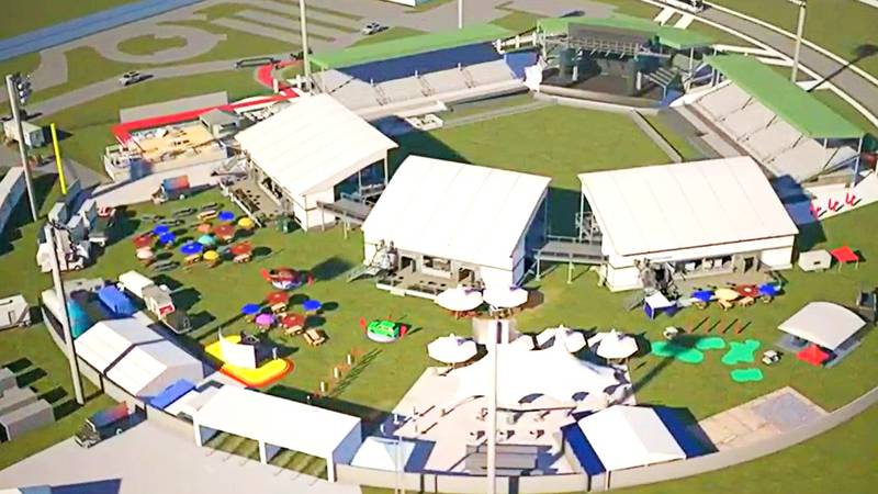 Lake Olmstead Stadium festival rendering
