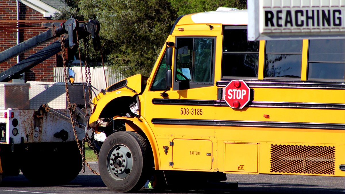 This was the scene about an hour after a Sept. 28, 2021, school bus crash in Aiken County near...